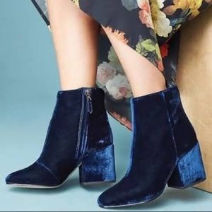Sam Edelman Taye Inky Velvet Boots Booties